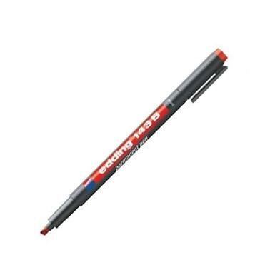 Edding Asetat Kalemi B Uç Kırmızı 10 Lu Renkli